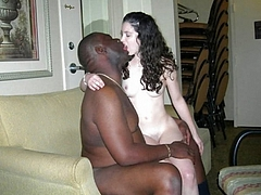 Photo White Girl Kisses Black Man Before Mating