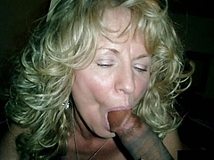 Picture Mature Blonde Wife Caught Sucking a Black Dick