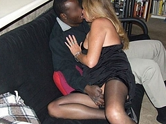 Picture Married Woman Kissing with a Black Man