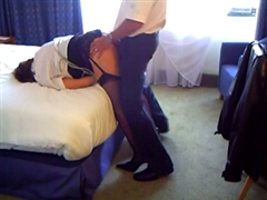 Two Colleagues Share for Sex in Hotel Room a Cheating Mature Wife