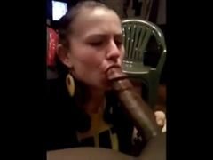 White Girl Makes Oral Sex to Black Man