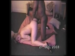 Blonde Girl Receives Perfect Gift for Christmas a Big Black Dick