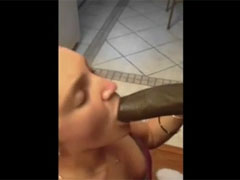 Can She Handle that Big Black Dick in Her Mouth and Vagina