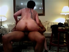 Curvy White Mom Rides the Black Dick