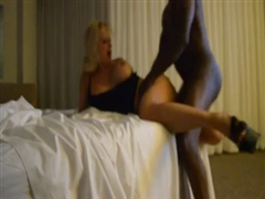 Mature Blonde Milf Sex with Black Stud in Hotel