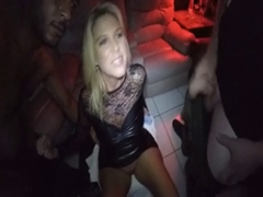 Super Hot Blonde Cougar Rubbing Black Dicks