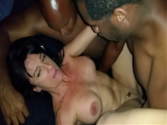 What a Night Hot White Milf Shared Between Two Black Lovers