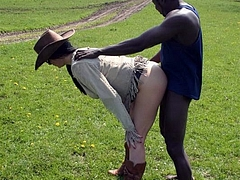 Photo Country Girl Doggystyle Sex with Black Man