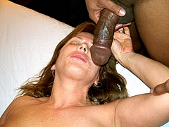 Photo Mom is Covered in Cum from Black Cock