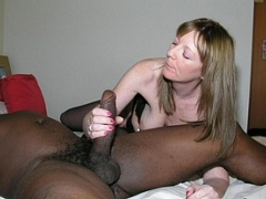Mature Blond Cuckolds With Their Black Bull Photos