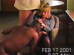 Slut Amateur Wife Gets Creampied in Hotel by Her Black Boss