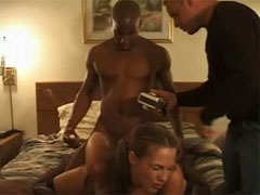 Sexy Amateur Wife Shared by Husband in Hotel Room with BBC