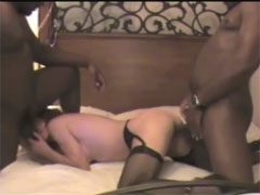 Young Wife Fucks Two Black Studs