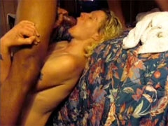 White Wife Cheating on Husband with Young Black Stud