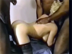 British Wife Gang Bang with Black Neighbors