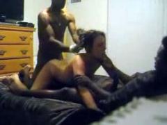Black  Power Interracial Threesome Sex