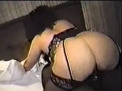 Black Bull Sex with Hot Brunette White Wife in Hotel Fuck
