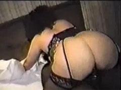 Black Bull Sex with Hot Brunette White Wife in Hotel Fuck
