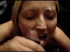 White Blonde Teen Interracial Cuckold Suck with Black Stud