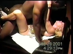 BBC Fucking My Slutty UK Wife in Local Theatre while I film
