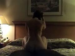 Beautiful Busty Wife Enjoying First Hotel Interracial Sex