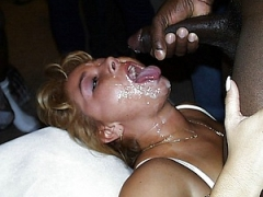 White Blonde Mom Facialized by Big Black Cock Photo
