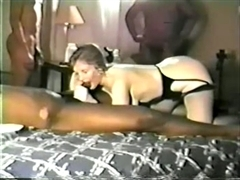 House Wife First Time Black Gangbang in Interracial Sex Clip