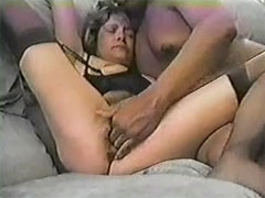 Slutty Short Haired Wife Fucked by BBC in Home Interracial