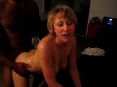 Amateur Blonde White Wife Fucking Black Bull