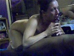 Cheap Amateur White Slut Proud of Cock Sucking BBC in Mirror
