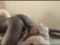 Cheating Wife Sucks Her First Black Cock on Film