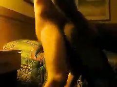 Amateur Black Slut Fucked Doggy Style Sex on Sofa
