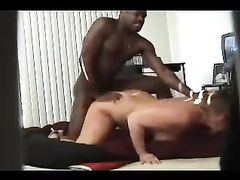 Chubby White Pussy Dominated by Black Dick