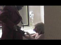 Mature Blonde White Wife Enjoys Sucking Big Black Cock