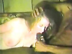 Woman in Hotel Room Sucking Black Cock
