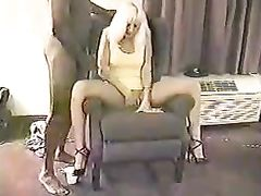 Mature Blonde Lady Agrees to do GangBang Sex with Blacks