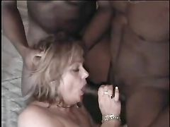 Mature White Wife Takes Multiple Black Partners in Pussy