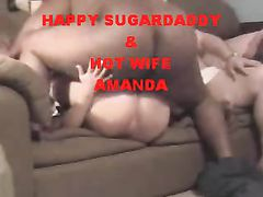 Sugardaddy Big Black Cock Drilling White Pussy Really Hard