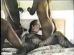 Mature Amateur Wife Filling Her Pussy with Big Black Cocks