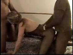 Amateur Interracial Porn Video Blonde Gf with Big Black Cock