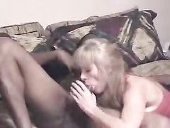 Wife Shares Hubby with Big Black Cock