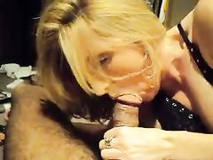 Delicious White Milf Quickie Blowjob on Big Black Cock
