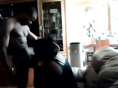 Black Mamma Blows and Licks Ass of Young Boy Stud