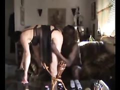 Sexy White Mature Mom Having Sex with Muscled African Friend