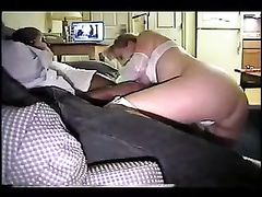 Black Boss Has Sex with His White Cuckold Amateur Couple