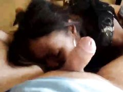 Madagascar Black Pussy Blows Lucky White Dick