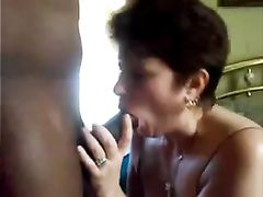 White Mom Sucking Big Black Cock Tube in Close Up Blow Video