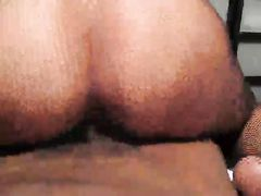 Tight White Cunt Riding with Passion Big Black Cock Stud