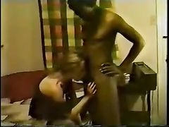 Vintage Interracial Cuckold 69 Sex Video Wife with Black Stud