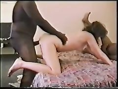 Classic Cuckold Video White Wife Shared with Black Cocks